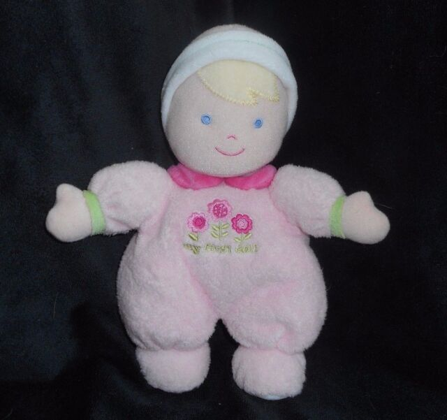JUST ONE YEAR CARTER'S MY FIRST BABY DOLL RATTLE PINK STUFFED ANIMAL PLUSH TOY