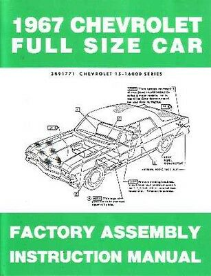 1967 Bel Aire Caprice Impala Assembly Manual Rebuild Instructions Illustrations