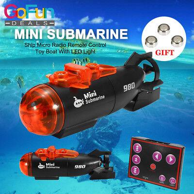 Ferngesteuertes Mini Micro RC U-Boot Schiff Infrarot mit LED Licht Spielzeug