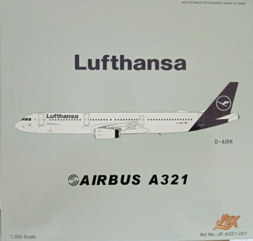 J-FOX JFA321001-1//200 LUFTHANSA AIRBUS A321-131 D-AIRK /& Herpa Wings Katalog