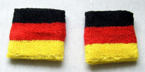 Schweißband Deutschland fürs Handgelenk schwarz rot gold BRD sweatband for wrist