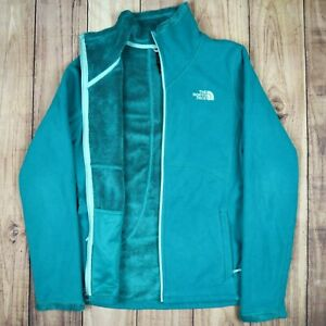 Womens-Vintage-The-North-Face-Fleece-Jacket-Turquoise-Size-S