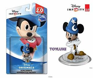 Disney-INFINITY-CRYSTAL-Clear-SORCERER-039-S-APPRENTICE-MICKEY-Game-Figure-VARIANT