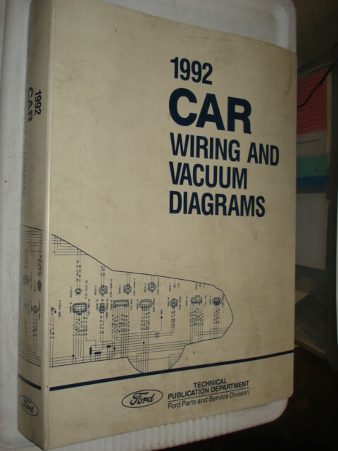 1992 Ford Car Wiring Diagrams Service Manual Mustang And More Shop Repair
