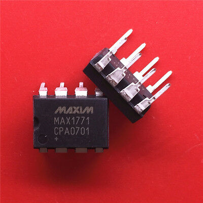 5PCS MAX1771CPA+T IC REG CTRLR BST PWM 8-DIP MAX1771 1771 MAX1771C 1771C MAX1771