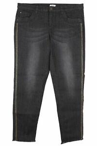 Sheego Stretch Jeans Die Gerade Straight Fit Women's Black Denim Size 48 50 54