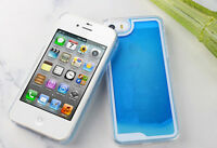 Glow in the Dark Noctilucent Running Sand Liquid Hard Cover Case For iPhone 5 5S