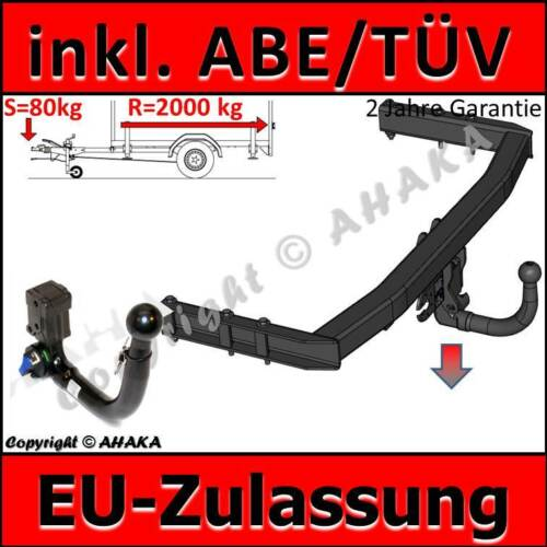 AHK ABNEHMBAR ABE Audi A4 B6 B7 Bj 01-08 Limousine Avant Kombi Quattro 8EC 8ED