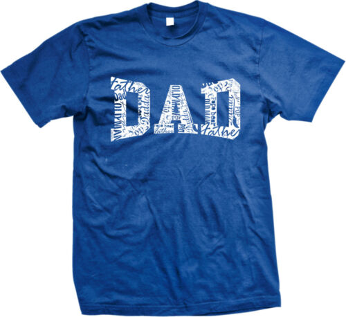 Dad White Imprint Fathers Day Present Gift Idea Papa Poppa Pops Mens T-shirt