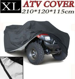 Xl Black Atv Waterproof Cover Fit Fuzion Polaris Honda Yamaha Can Am Suzuki Aeon Ebay