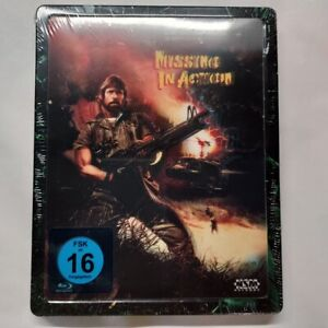 Missing in Action-Uncut [Blu-Ray nel Steelbook/futurepak/Nuovo/Scatola Originale] Chuck Norris