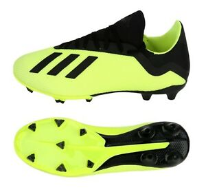 sneakers for cheap 26f52 be29b Image is loading Adidas-Men-X-18-3-FG-Cleats-Lime-
