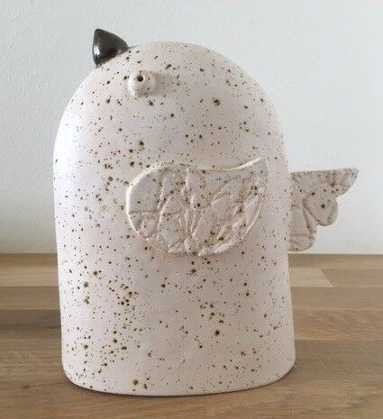 Keramik figur Fugl, Nova Ceramics