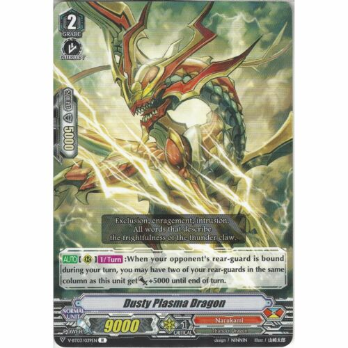 Rare Card Cardfight! V-BT03//039EN R Vanguard Dusty Plasma Dragon