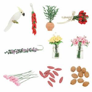 Miniature-Garden-Dollhouse-Food-Vegetables-Radish-1-12-Plant-Flower-Pink-De-J9U0