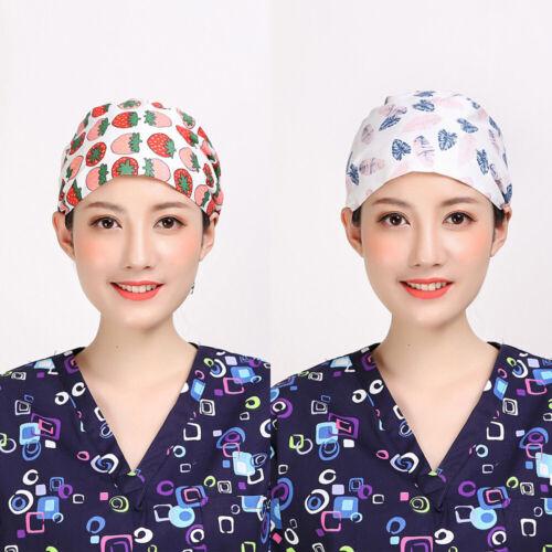Damen Baumwolle Gedruckt Surgical Deckel Dental Klinik Hut Hospital Zubehörteil