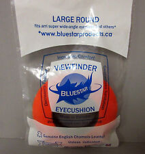 Bluestar Large Round Fleece Orange Eyepiece Eye Cushion Viewfinder Eyecushion