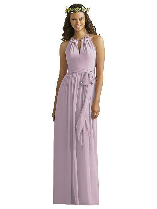 Social Bridesmaids Shirred Halter Gathered Skirt pink Pink Sz 10 Prom Dress 8170