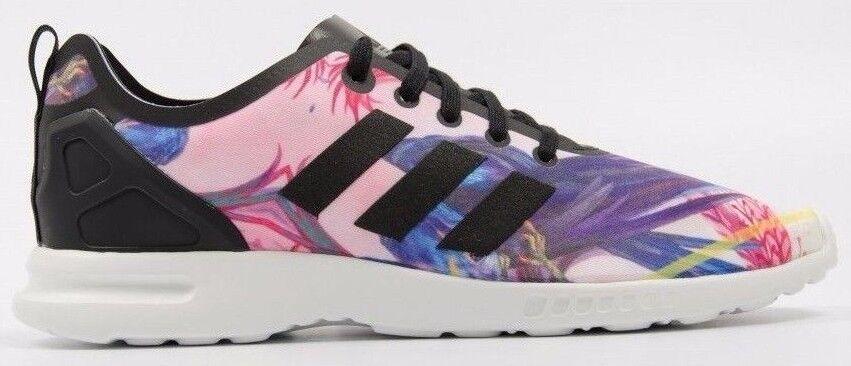 RRP £ 69.99 Adidas Originals ZX Flux Trainers Rose Violet Bleu Blanc Noir sz4.5