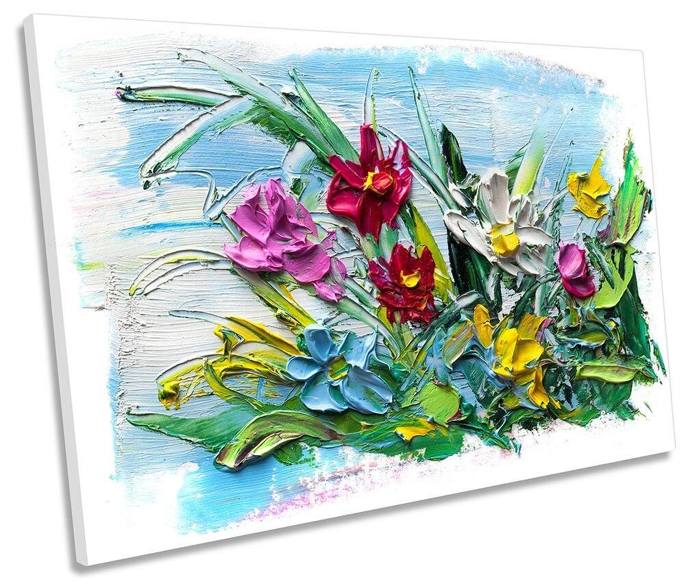 Modern Floral Flowers SINGLE CANVAS Wand KunstWORK Drucken Kunst