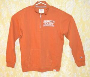 Adult-Large-Champion-Brand-Texas-Longhorn-Zipping-v-Neck-Sweat-Shirt
