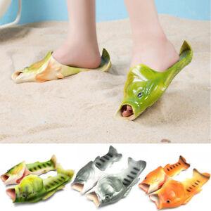 Creative-Unisex-peces-Ducha-Zapatillas-Funny-Beach-Zapatos-Sandalias-Bling-Flip-Flops