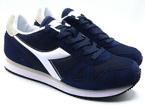 a differenza di avvertimento concetto  Scarpe Uomo Diadora Sneaker Casual Sportive Pelle Nylon Blu invernali  Comode | eBay