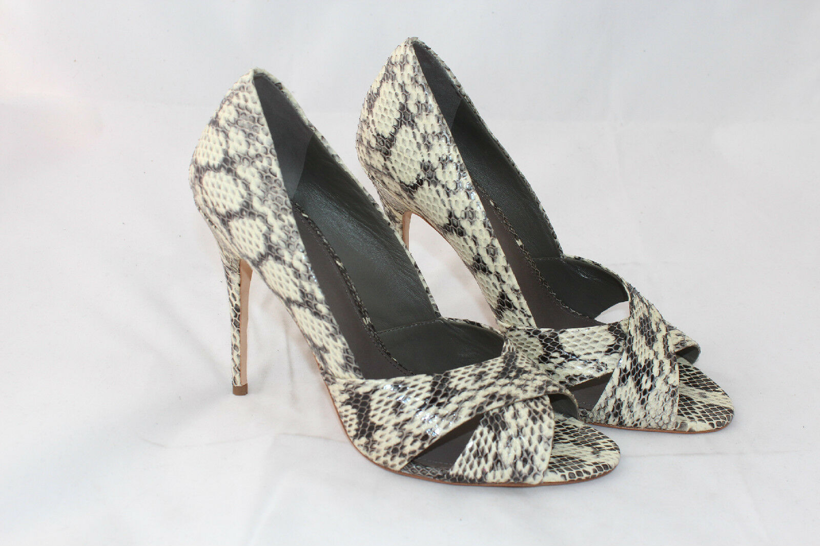 350 TORY BURCH Amira Roccia Snakeskin High Heels Leather 9.5M schuhe Pumps (O29)