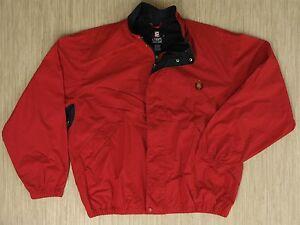 Vintage Chaps Ralph Lauren Red Bomber Jacket Windbreaker Men&#039 ...