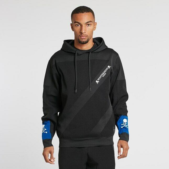 Nouveau Adidas Mastermind World Japon Crâne à Capuche Sweat à Capuche Bleu Noir L Grande Lrg
