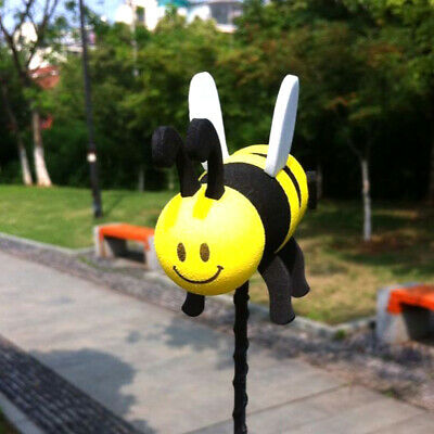 Car Antenna Accessories Smiley Honey Bumble Bee Aerial Ball Decor Topper 1pc