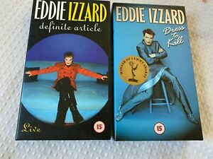 Eddie Izzard Dress To Kill 1998 VHS With Poster Included & Definite Article