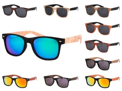 Lunettes de soleil nerd aspect bois optique fashion moderne tendance