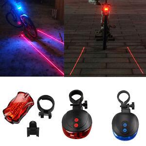fahrrad r cklicht 2 laser 5 led blue rot warnleuchte. Black Bedroom Furniture Sets. Home Design Ideas