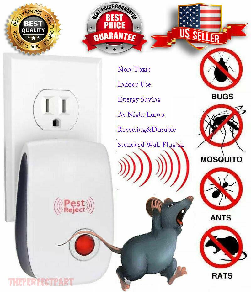 Pest Reject Pro Ultrasonic Repeller Home Bed Bug Mites Spider Defender Roaches Ebay