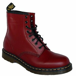 dr doc martens 1460z 11822600 rot damen herren echtleder 8 loch schuhe original ebay. Black Bedroom Furniture Sets. Home Design Ideas