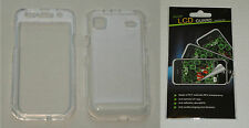 Clear Hard Plastic Case & Screen Protector For Samsung Vibrant T959