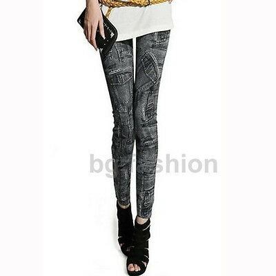 Women Denim Jeans Sexy Skinny Leggings Jeggings Slim Fit Stretch Pants Trousers