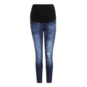 019f41f5061fe Details about Woman Pregnancy Ripped Jeans Maternity Pants Nursing Prop  Belly Denim Trousers