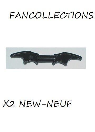 LEGO X 2 Weapon Batman Bat-a-Rang 98721 NEUF Black Minifig