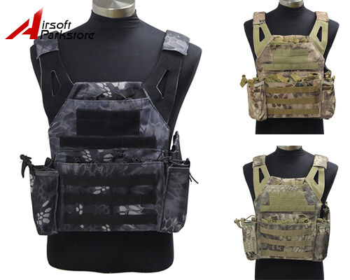 Tactical  Molle Camo Plate Carrier Combat Vest Military Hunting Airsoft Paintball  best reputation