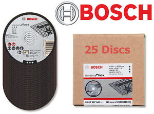 25-x-Bosch-115-mm-4-1-2-034-Mince-Fente-1-0-mm-Inox-Disques-Coupe-Lames-2608603169