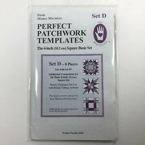 Marti-Michell-Perfect-Patchwork-Template-Set-D-4in-Square-Basic-8-Pieces-8254