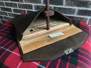 VINTAGE 1980's BELTING LEATHER MACBOOK PRO MESSENGER CASE BAG w/ KEY R$698