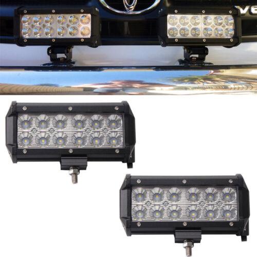 Pair 7INCH LED Off-road Light Bar Flood Beam UTE  SUV Truck Car ATVs