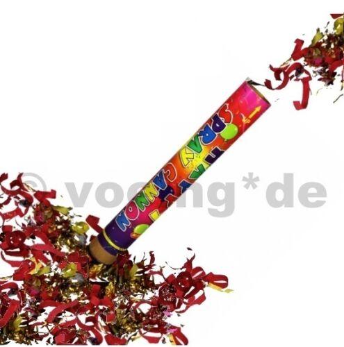 4x confettis shooter multicolores 60 cm popper Canon confettis canon konfettishooter