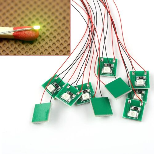 3528 10pcs Pre Wired Bright//Warm White//Red BlSMD Led Lamp Light Set 12~18V