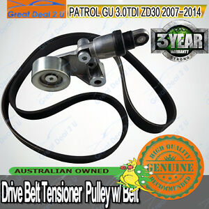 Drive-Belt-Tensioner-For-Nissan-Patrol-GU-Y61-ZD30DDTi-CRD-3-0L-4cyl-2007-on