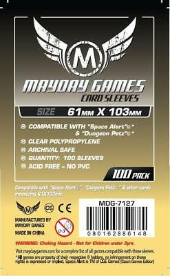 MAYDAY GAMES Tarot Board Game Card Sleeves Clear Size 70 x 120mm 100ct