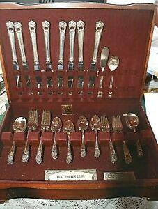 1847 ewig deine Set Rogers Silverplate Service für (8) 50 Stück